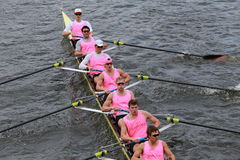 Princeton University races in the Head of Charles Regatta Stock Photos