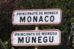Principado do sinal de Monaco Fotografia de Stock Royalty Free