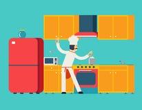 Principal casa de los muebles de la cocina de Food Dish Room del cocinero libre illustration