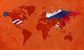Principal cinq pays les plus puissants au monde Image libre de droits