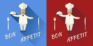 Principal cocina de Character Symbol Toque del cocinero de la historieta Fotos de archivo