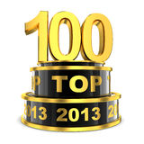Principal 100 de l'année Photographie stock