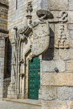 Principal door of the Guarda Cathedral. Portugal. Royalty Free Stock Photography