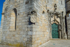 Principal door of the Guarda Cathedral. Portugal. Stock Photo
