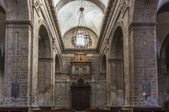 Principal door of Valladolid Cathedral Stock Photography