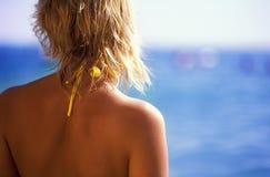 Principal e ombros da menina Imagens de Stock