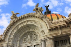 Principal facade. Of the bellas artes palace in mexico city Royalty Free Stock Images