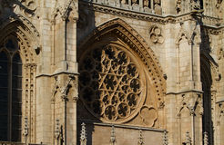 Principal Facade of Burgos Cathedral. Spain Royalty Free Stock Photos