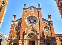Saint Anthony of Padua church. Beyoglu district. Istanbul, Turkey. Principal facade of the Saint Anthony of Padua, the largest Roman catholic church in Istanbul royalty free stock photo