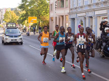 Principal groupe chez Berlin Marathon 2015 Image stock