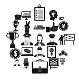 Principal icons set, simple style. Principal icons set. Simple set of 25 principal vector icons for web isolated on white background Royalty Free Stock Image