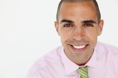 Principal novo e ombros do homem de negócios fotografia de stock royalty free