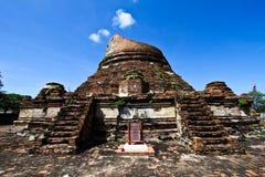The principal pagoda,Gudeedow temple,Thailand Stock Photo