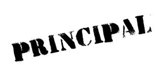 Principal rubber stamp Royalty Free Stock Photo