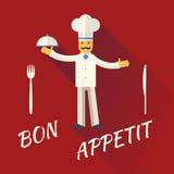 Principal sombrero de la cocina de Character Symbol Toque del cocinero con Imágenes de archivo libres de regalías