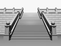 Principal staircase Stock Images