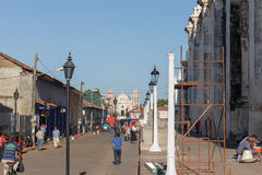 Principal street view at afternoon. Travel imagery for Nicaragua Stock Photos