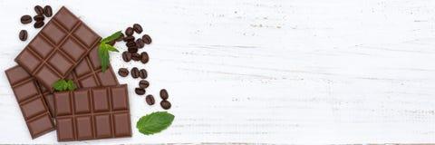 Principal v de copyspace de bonbons à bannière de nourriture de barre de chocolats de lait chocolaté Image libre de droits