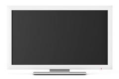 Principale bianca o affissione a cristalli liquidi TV Immagine Stock