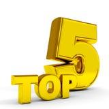 PRINCIPALE cinque dell'oro. Fotografie Stock Libere da Diritti