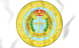 Principality of Asturias coat of arms, Spain. Royalty Free Stock Photos