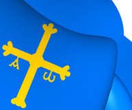 Principality of Asturias Flag, Spain. Royalty Free Stock Photography