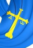 Principality of Asturias Flag, Spain. Royalty Free Stock Photos