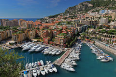 Principality of Monaco. View of Fontvieille and it's harbour, Monaco Royalty Free Stock Photos