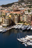 Principality of Monaco - French Riviera. The Port of Fontvieille in the Principality of Monaco, a sovereign city state, located on the French Riviera. It has an Royalty Free Stock Photography