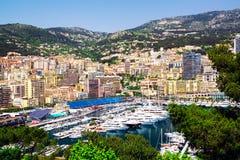 Principality of Monaco harbor Royalty Free Stock Images