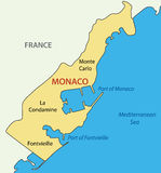 Principality of Monaco - map of country - vector Stock Photography