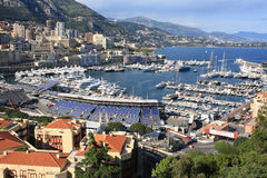 Principality of Monaco, May 12, 2013. Panorama of the city of Monte Carlo Royalty Free Stock Image