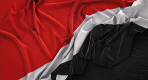 Principality of Sealand Flag Wrinkled On Dark Background 3D Rend Stock Photos