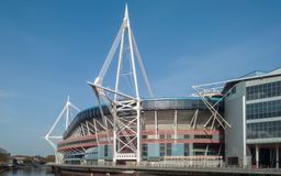 Principality Stadium in Cardiff, Wales Royalty Free Stock Images