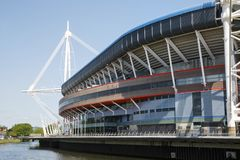 Principality Stadium Cardiff. Cardiff, UK: May 24, 2016: The Principality Stadium was formerly known as the Millennium Stadium but changed its name in 2016 for Royalty Free Stock Image