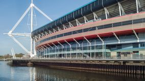 Principality Stadium in Cardiff, Wales Stock Image