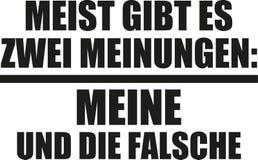 Principalmente c'è il due mio ed uno sbagliati di opinioni, Dichiarazione tedesca illustrazione vettoriale