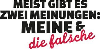 Principalmente c'è il due mio ed uno sbagliati di opinioni, tedesco illustrazione vettoriale