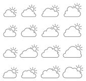 Principalmente icona nuvolosa su fondo bianco royalty illustrazione gratis