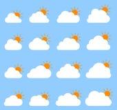 Principalmente icona nuvolosa su fondo blu royalty illustrazione gratis