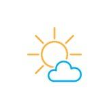Principalmente icona soleggiata del tempo isolata su fondo bianco Illustrazione di vettore illustrazione di stock