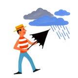 principalmente nuvoloso e pioggia illustrazione vettoriale