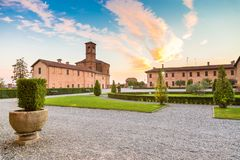 Principato di Lucedio, Vercelli, Italia fotografia stock libera da diritti