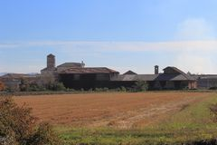 Principato di Lucedio, Vercelli, Italien Stockbilder