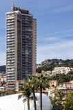 Principauté du Monaco et de Monte Carlo Bâtiment moderne de ville Image libre de droits