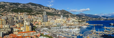 Principaute of monaco and monte carlo Royalty Free Stock Images