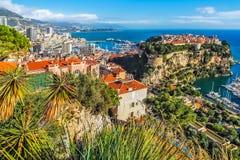 Principaute van Monaco en Monte Carlo Royalty-vrije Stock Afbeeldingen