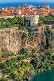 Principaute von Monaco und von Monte Carlo Stockfoto