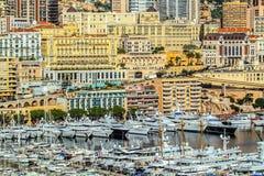 Principaute von Monaco und von Monte Carlo Stockbild