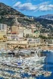Principaute von Monaco und von Monte Carlo Stockfotografie